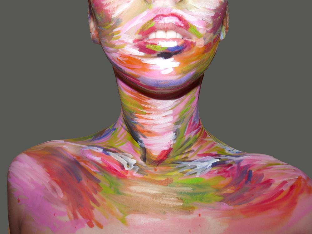 Malerei Mode Modedesign Integrated-Design Inszenierung Performance -2